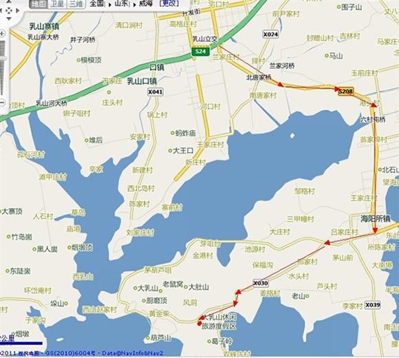 3,威海方向                走青威高速,76号口下,按景区路线指示牌